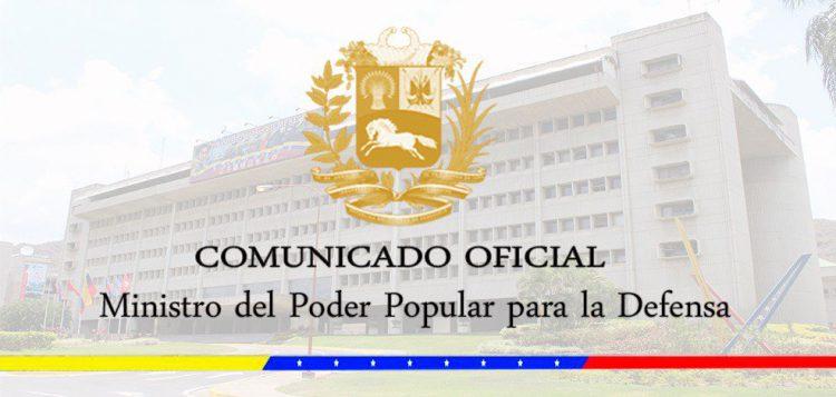 COMUNICADO OFICIAL DE LA FUERZA ARMADA NACIONAL BOLIVARIANA